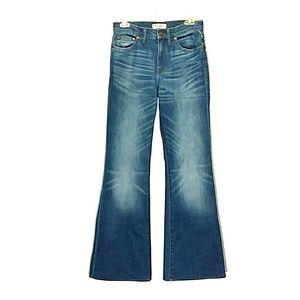 NWT Madewell Flea Market Flare Blue Jeans Size 27